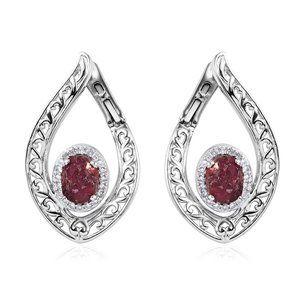 4.60ctw Orissa Rhodolite Garnet, Zircon Earrings